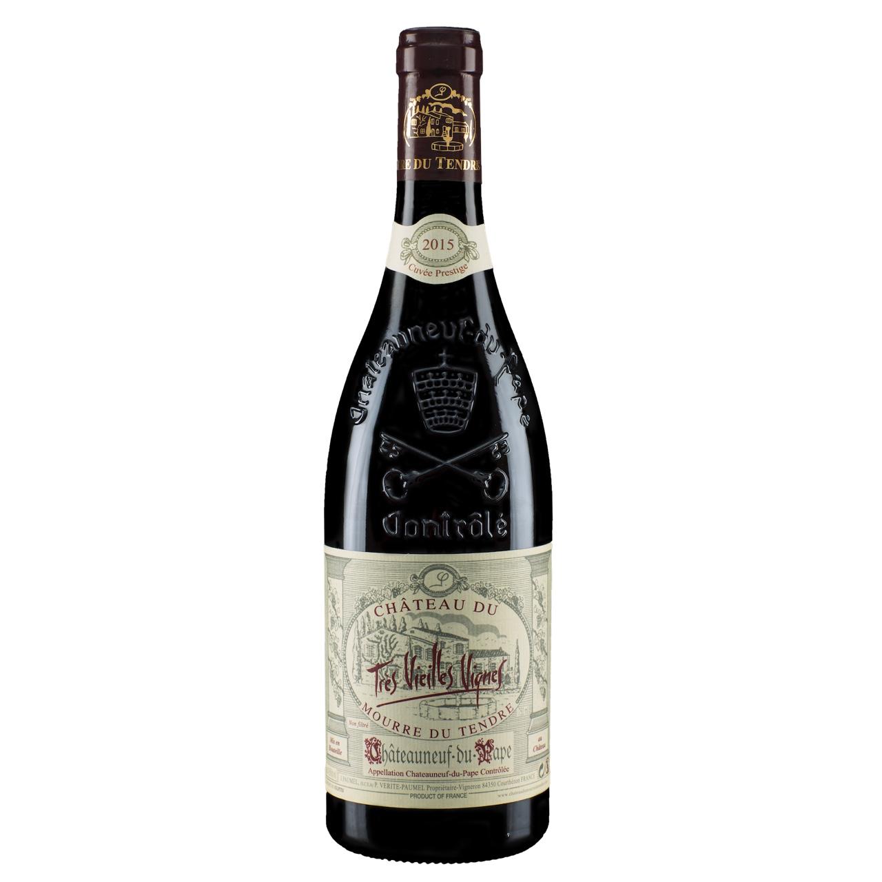 Chateau-du-Mourre-du-Tendre-Chateauneuf-du-Pape-Cuvee-Prestige-TresVieillesVignes-2015-wijnvanons