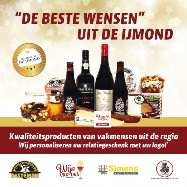 Kerstpakket uit de IJmond Wijn Van Ons Beverwijk